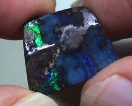 12.0 ct Gem Blue Green Natural Queensland Boulder Opal