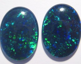 Pair of Gem Grade Australian Opal Triplets, 18x13mm