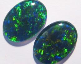 Beautiful pair of Australian Opal Triplets, 18x13mm