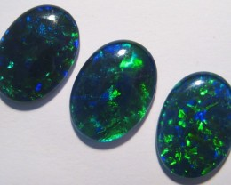 Beautiful parcel of 3 Gem Grade Australian Opal Triplets