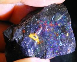 93Ct Rainbow Color Play Black Matrix Honduras Rough Opal