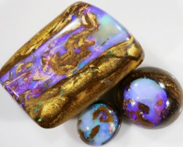 116 Cts set Wood Boulder Opal bead CF 705