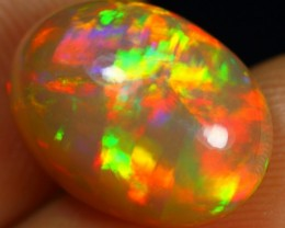 TOP AAA 4.45cts TOP 5/5 SUPERB SPARKLING MULTI FIRE Untreated Welo Opal