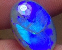 6.95ct Lightning Ridge Gem Black Crystal Opal LR121