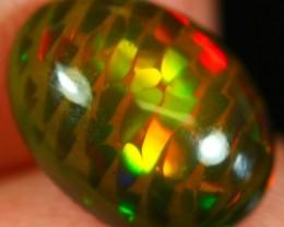 2.25Ct Multi Color Play Ethiopian Welo Smoked Black Opal
