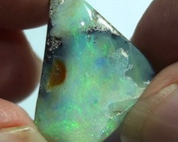 15.80  ct Beautiful Green Natural Queensland Boulder Opal