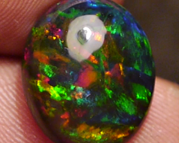 3.25 CTS TOP GEM FULL COLORS SMOKED OPAL _ @