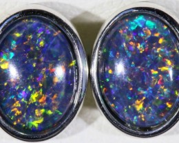 GEM TRIPLET OPAL EARRINGS [SOJ5191]
