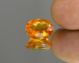 3.62cts Madagascar Fire Opal Faceted Oval Cut