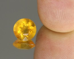 2.01cts Madagascar Fire Opal Faceted Round Cut
