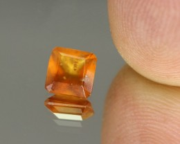 1.41cts Madagascar Fire Opal Faceted Square Cut