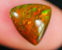 2.11ct Natural Ethiopia Welo Solid BLACK SMOKED Opal