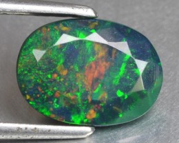 1.28 Cts Smoked Ethiopian Multi Color play Opal