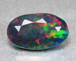 1.58 Cts Smoked Ethiopian Multi Color play Opal