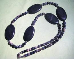 Stunning Australian Opal and Opalized Quartz Necklace