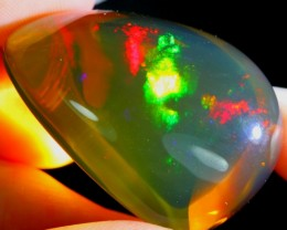 68.41Ct Neon Color Play Ethiopian Welo Crystal Opal