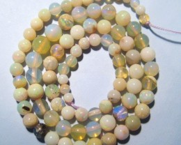 Australian Andamooka Opal Bead Strand, 6-3mm rounds