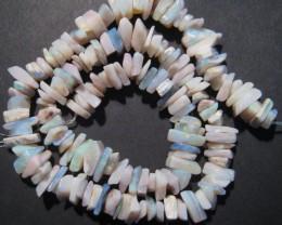 Pretty Australian Mintabie Opal Chip Bead Strand
