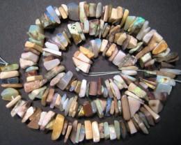 Australian Andamooka Matrix Opal Chip Bead Strand