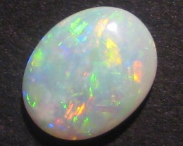 Australian Andamooka Crystal Opal Solid, bright multicolours - lots of gree