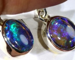 12 CTS CRYSTAL OPAL SILVER EARINGS OF-1769