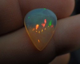 3.7 ct Multi-Color Fire/Flash Natural Ethiopian Welo/Wollo Opal Not Enhance