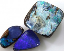 8.5 CTS 3PC  BOULDER OPAL POLISHED STONE  ADO- 4310