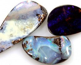12 CTS 3PC BOULDER OPAL POLISHED STONE  ADO-4312
