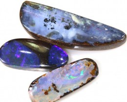 13.4 CTS  3PC BOULDER OPAL POLISHED STONE  ADO- 4322