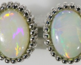 7.95 SOLID OPAL EARRINGS -SILVER [SOJ5246 ]