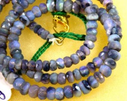 45.5 CTS BLACK FACETED OPAL BEADS STRAND TBO-5785