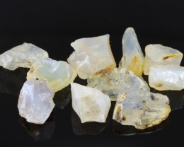 71cts Madagascar 10PCS Rough White Opal Parcel Lot