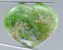 43.96ct Apple Green Madagascar Opal Heart Shape Cabochon