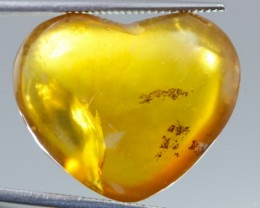 20.44 Fire Opal Heart Shape Cabochon from Madagascar