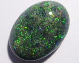 12.46ct Bright greens Australian Andamooka Matrix Opal Solid,