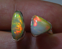 Sz6-7 Sterling .925 Silver & Solid Opal High Quality Handmade Ring