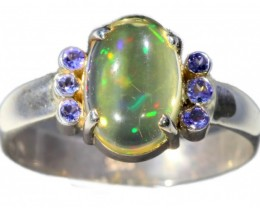 SIZE 8 STUNNING WELO WITH 6 TANZANITES RING[SOJ5283]