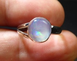 Sz6 Sterling .925 Silver & Solid Opal High Quality Han