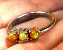 ETHIOPIAN OPAL RING STERLING SILVER  14 CTS    OF-1777