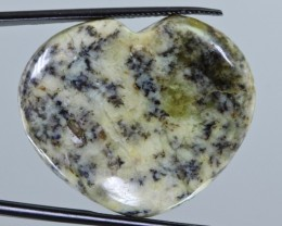 40.5cts Heart Shape Dendritic Madagascar Opal Cabochon