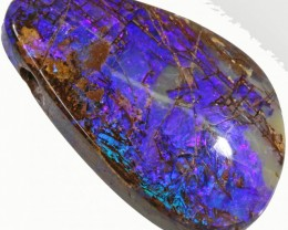 34.5 cts Drilled Wood Fossil Boulder Opal  BU2656