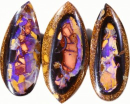79 cts Well polished Koroit Boulder opal Set  BU2669