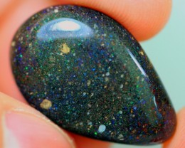 15.16Ct Polished Black Matrix Honduras Opal Stone