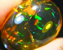21.97Ct Rainbow Crystal Flash Ethiopian Welo Polished Specimen Opal