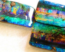 31.65 CTS QUALITY  BOULDER OPAL 3 PC SET INV-513  GC