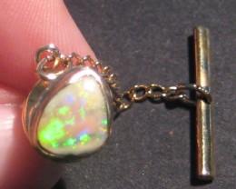 Australian Andamooka Opal and 14ct Gold Tie Pin