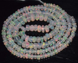 34.60 Ct Natural Ethiopian Welo Opal Beads Play Of Color