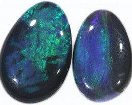 2.2 Cts Pair Black Opal  CF 760