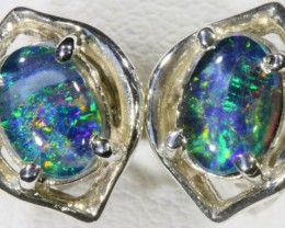 Opal Triplet set in Silver Earring SB 422