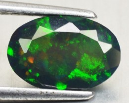 1.18 Cts Smoked Multi Color Play Ethiopian Black Opal